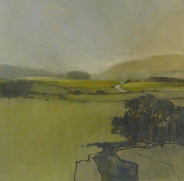Norma Stephenson:  Across Clapham Moss 70x70 oil on canvas board