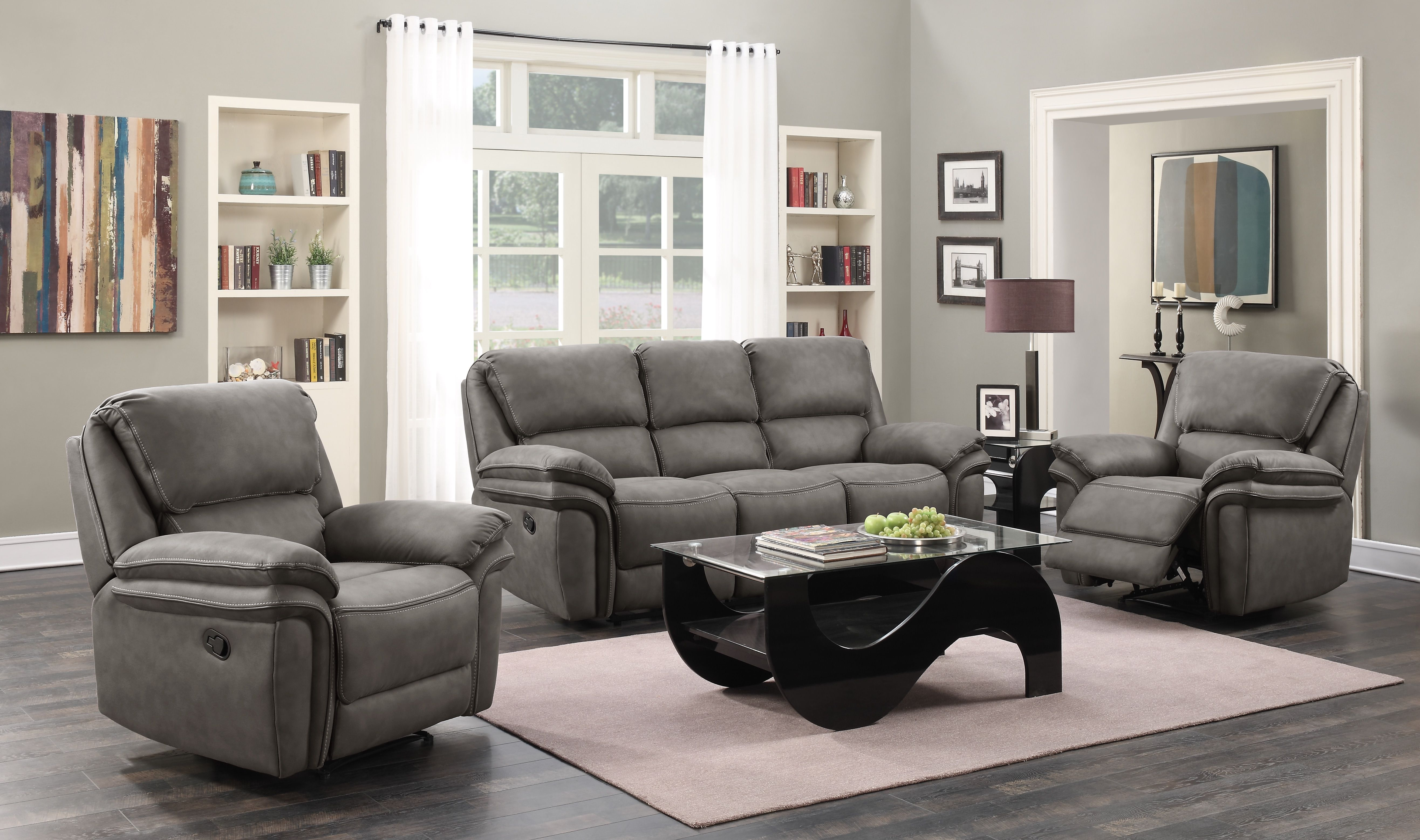 Moy Reclining Living Room Collection Living Room Suite White