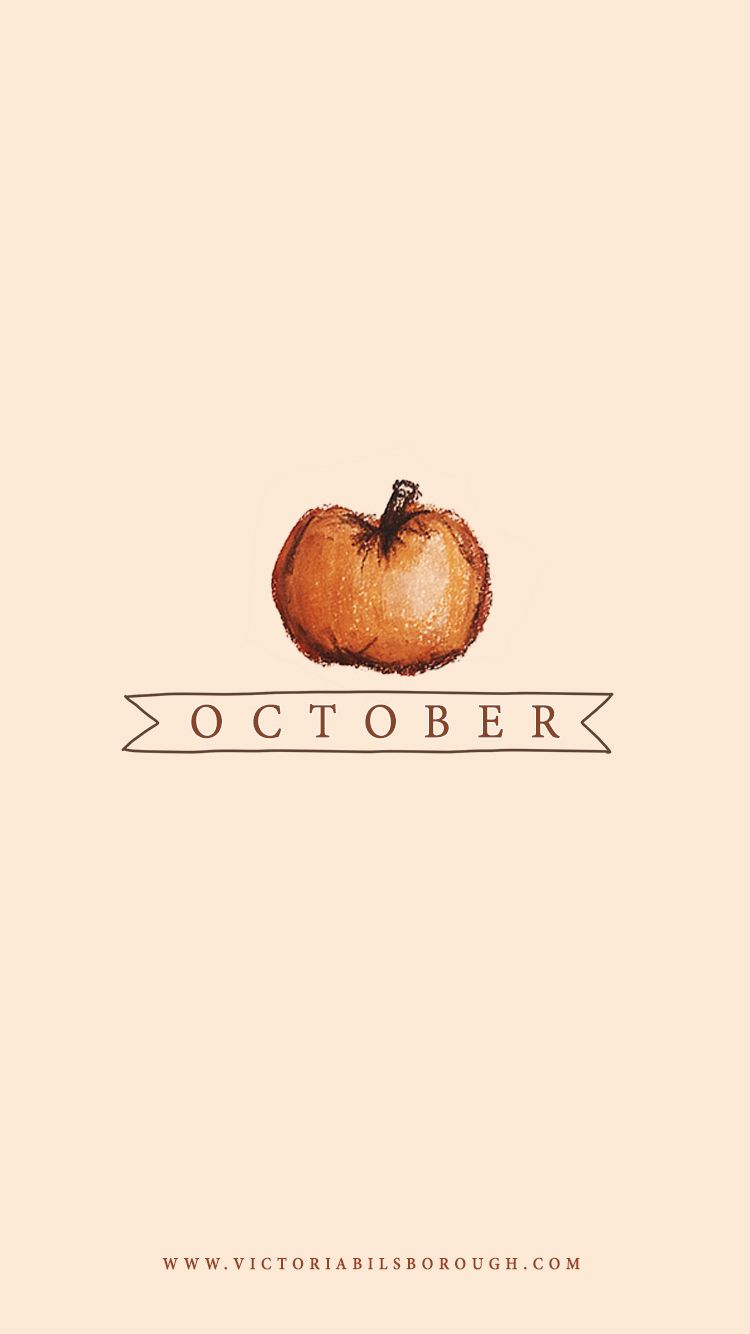 October Pumpkin Wallpaper - www.victoriabilsborough.com