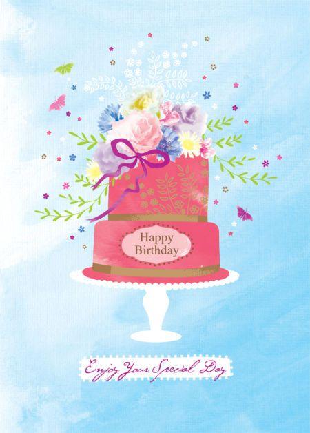 Bildergebnis für birthday cake  animated gifs lavender