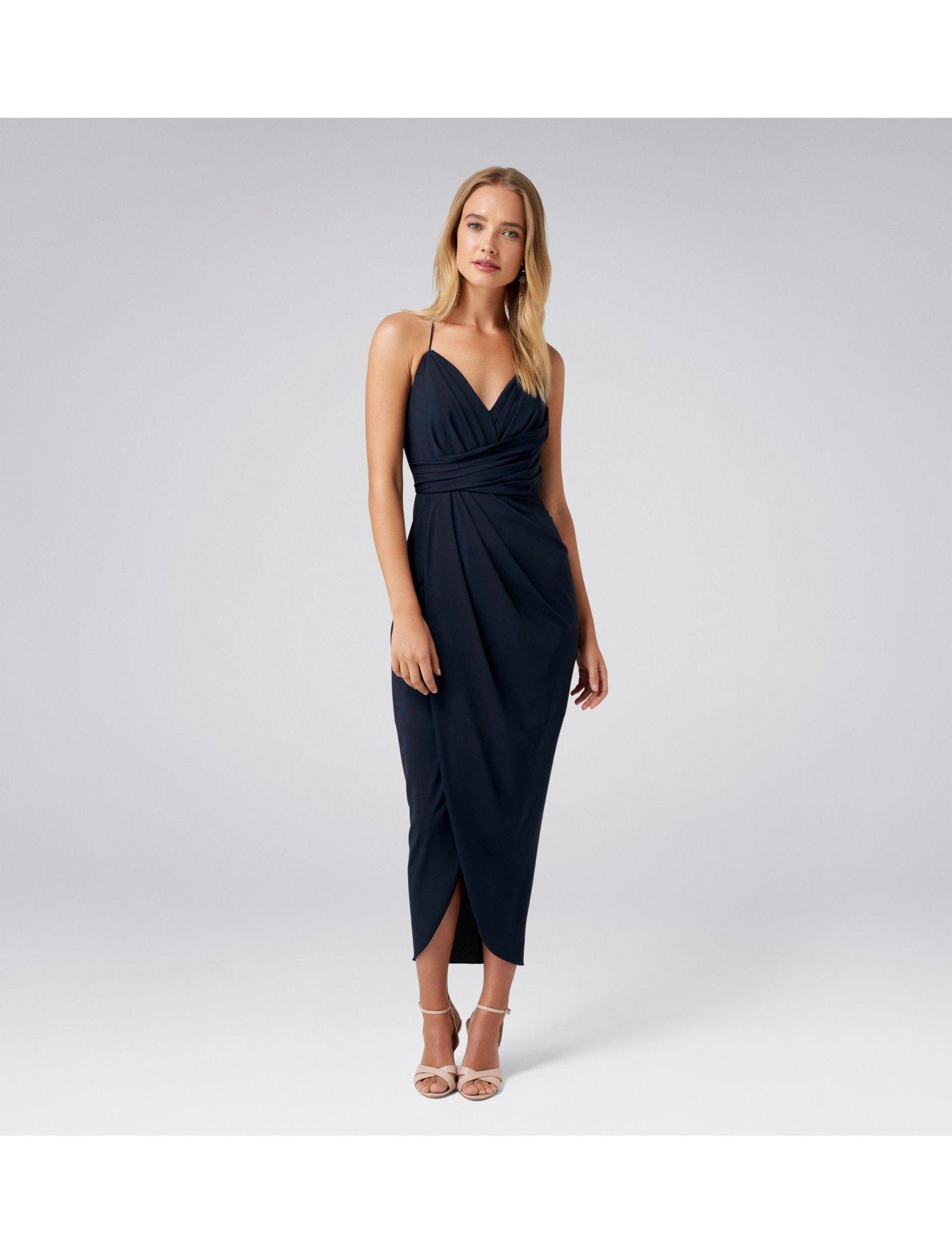 62ee839228a Charlotte Drape Maxi Dress Navy - Womens Fashion
