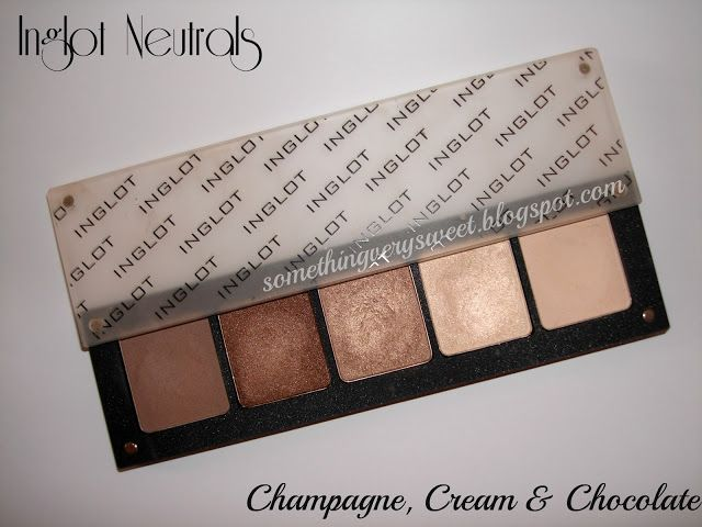 My Inglot Go To Neutral Eyeshadow Palette Champagne Cream