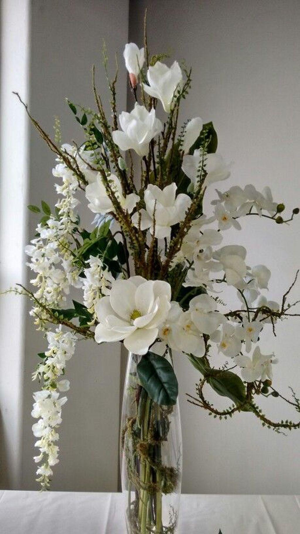 20 Elegant Room Decoration Ideas With Flower Vases Flower Arrangements Simple Orchid Flower Arrangements White Flower Arrangements