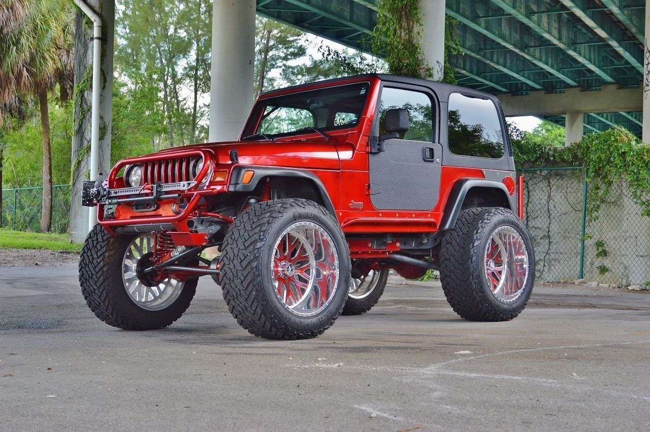 Frame off restored 1997 Jeep Wrangler Custom TJ SPORT monster ...