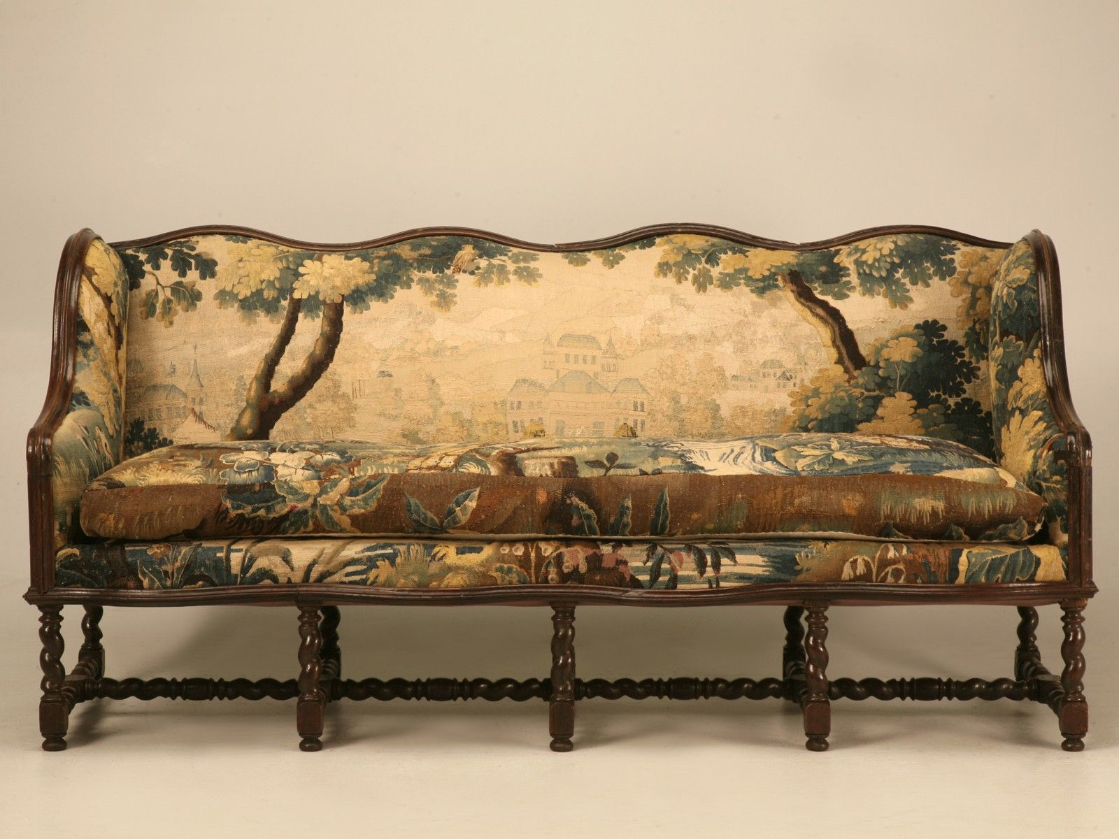 Beautiful Opulent Original Antique French Sofa W Earlier Aubusson