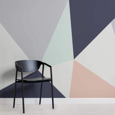 Prism Wallpaper Mural Muralswallpaper In 2020 Contemporary Wallpaper Designs Geometric Wallpaper For Walls Modern Wallpaper Designs