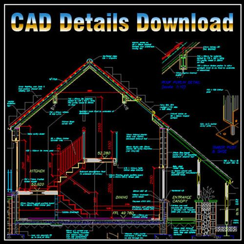 House section cad library autocad blocks autocad for Autocad drawings of houses