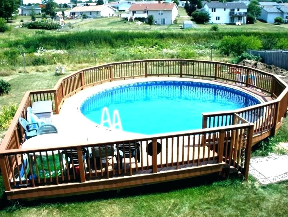 15 Above Ground And In Ground Pool Deck Ideas In Ground Pools