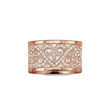 Women S Ring From The Thomas Sabo Glam And Soul Collection Made From Sterling Silver 18k Rose Gold And White Zirconia S Thomas Sabo Ring Thomas Sabo Jewelry