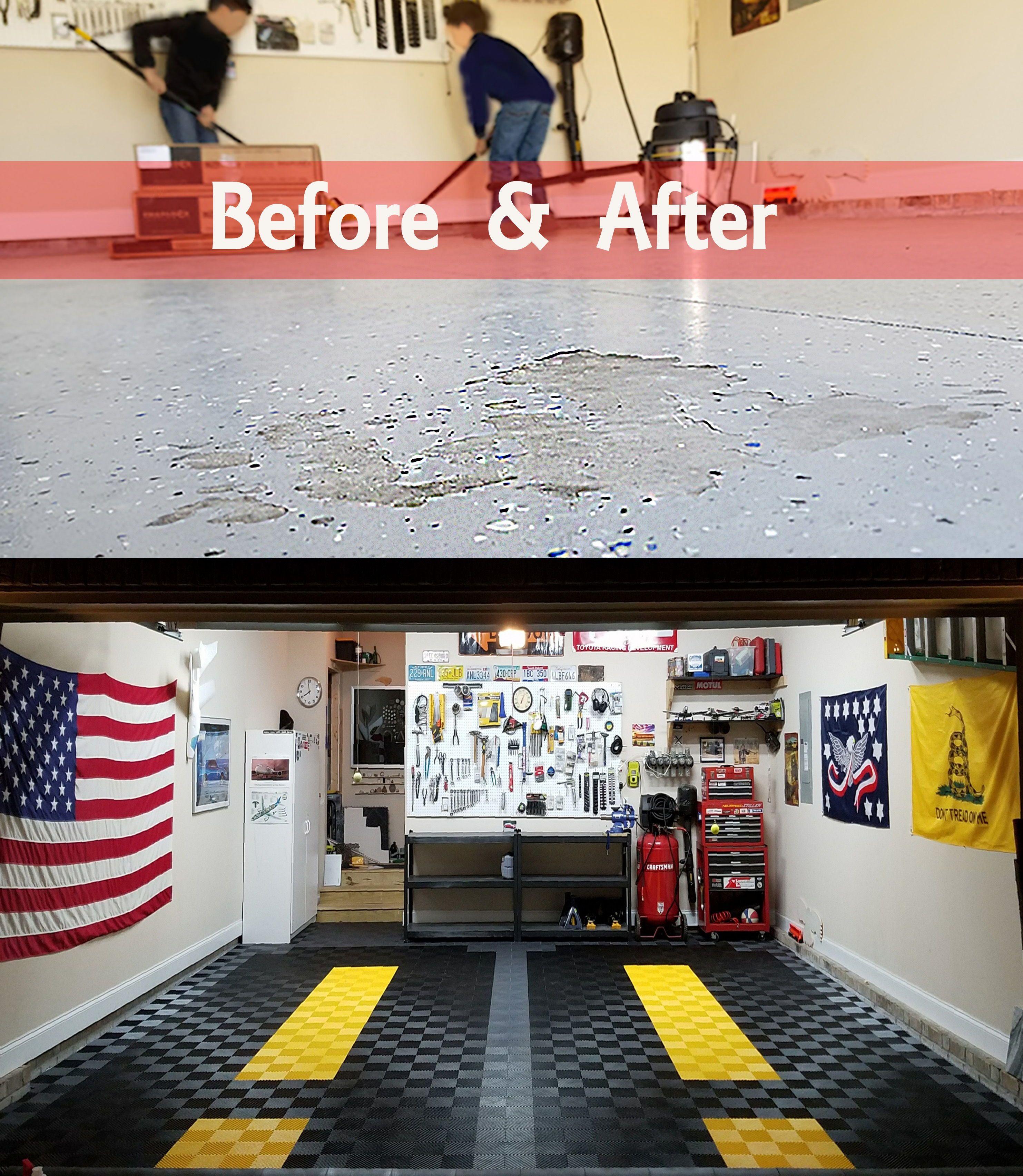 Amazing Garage Designs: Garage Floor Tiles -- American Made TrueLock HD & RaceDeck
