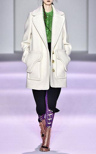 Panno Twill Pea Coat by MARCO DE VINCENZO for Preorder on Moda Operandi