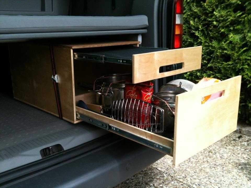Fabulous VW Bus Innenausbau, Bauanleitungen, Doppelbett im VW Caddy, Van  FE18
