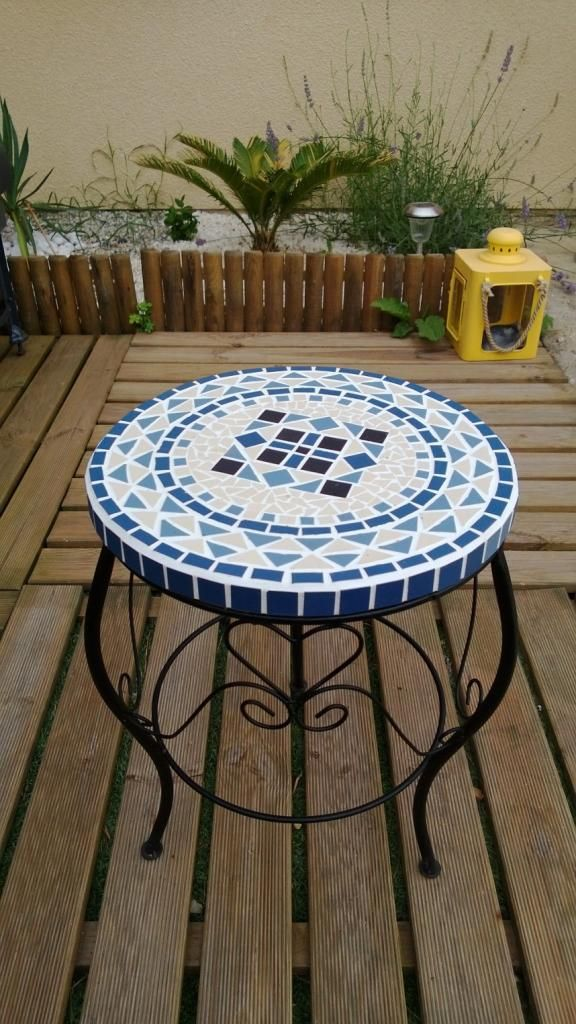 Table Marocaine Rectangulaire Table En Mosaique Table Fer Forge