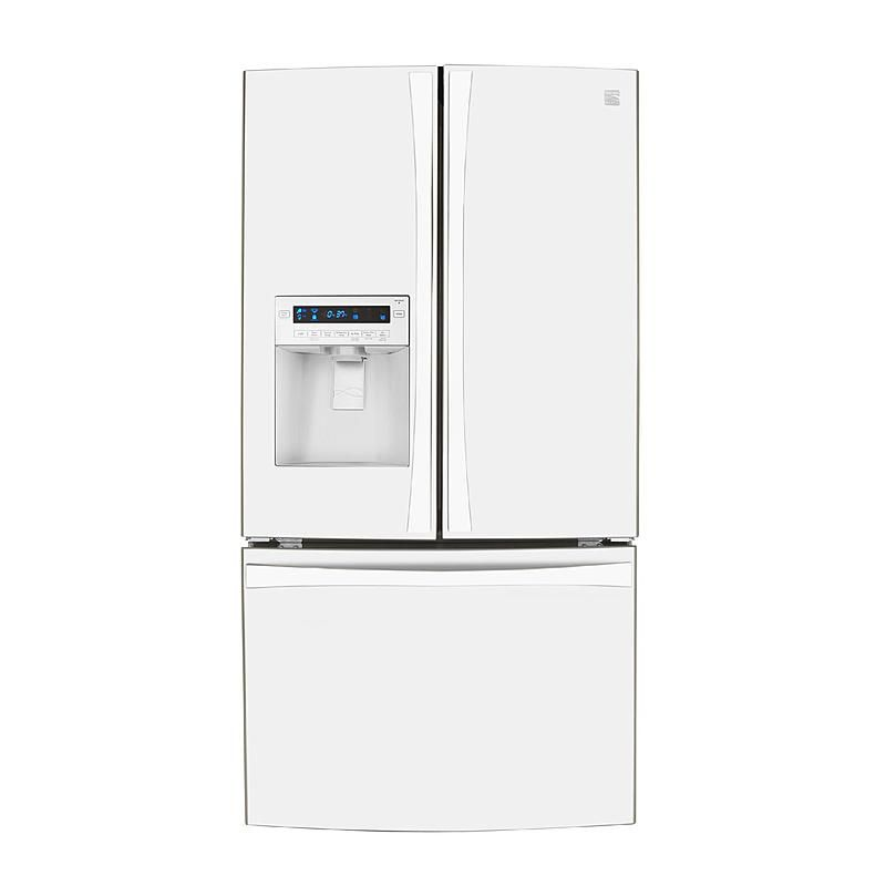 Kenmore Elite 72042 25 Cu Ft French Door Counter Depth Bottom Freezer Refrigerator White French Door Bottom Freezer Refrigerator French Door Bottom Freezer Bottom Freezer