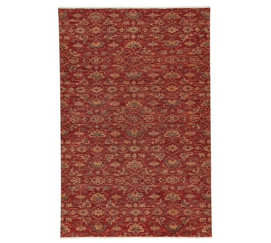 Rhett Hand-Knotted Rug, Red, 4 x 6'   Pottery Barn   Capel ...