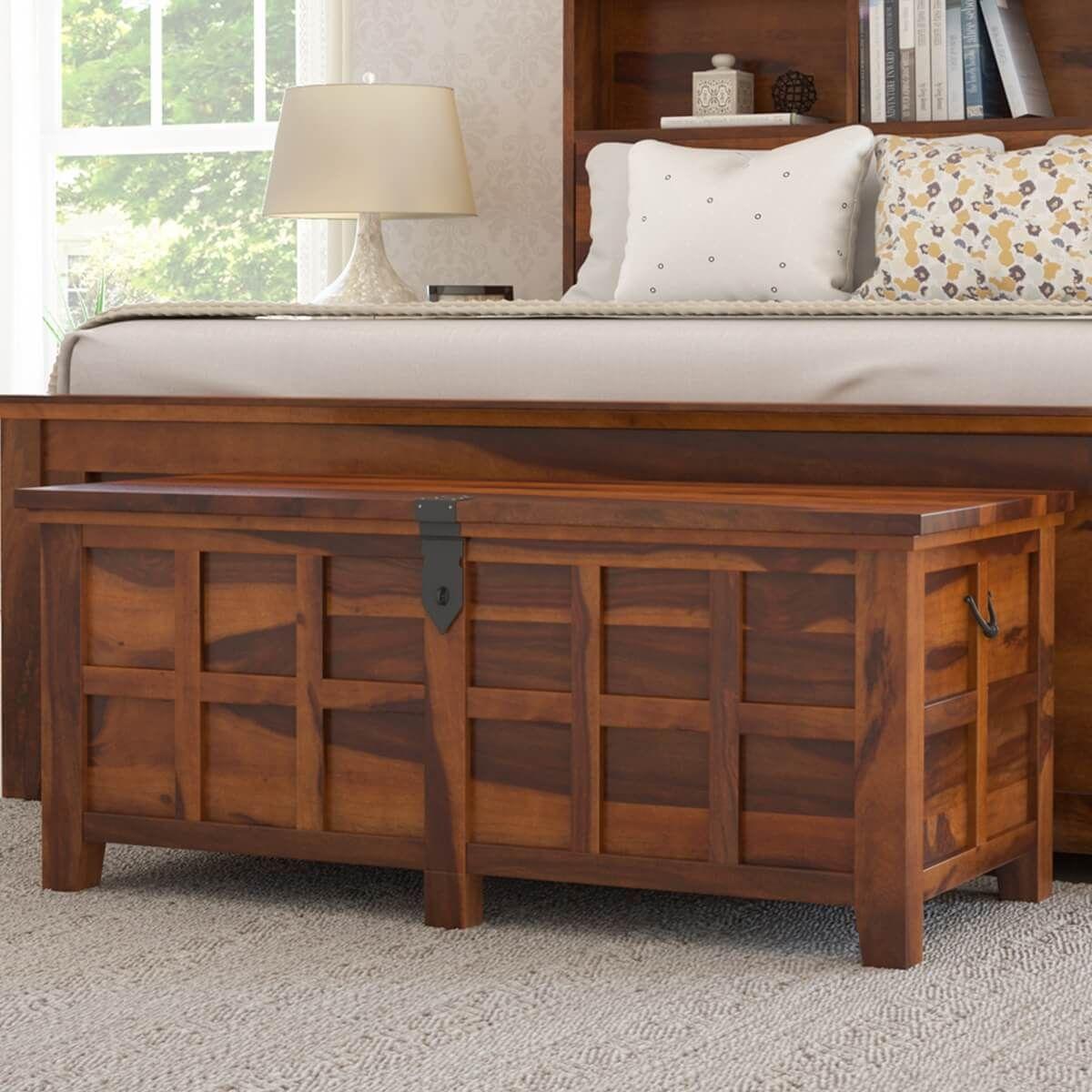 Mission Modern Solid Wood Platform Storage Bed Bedroom