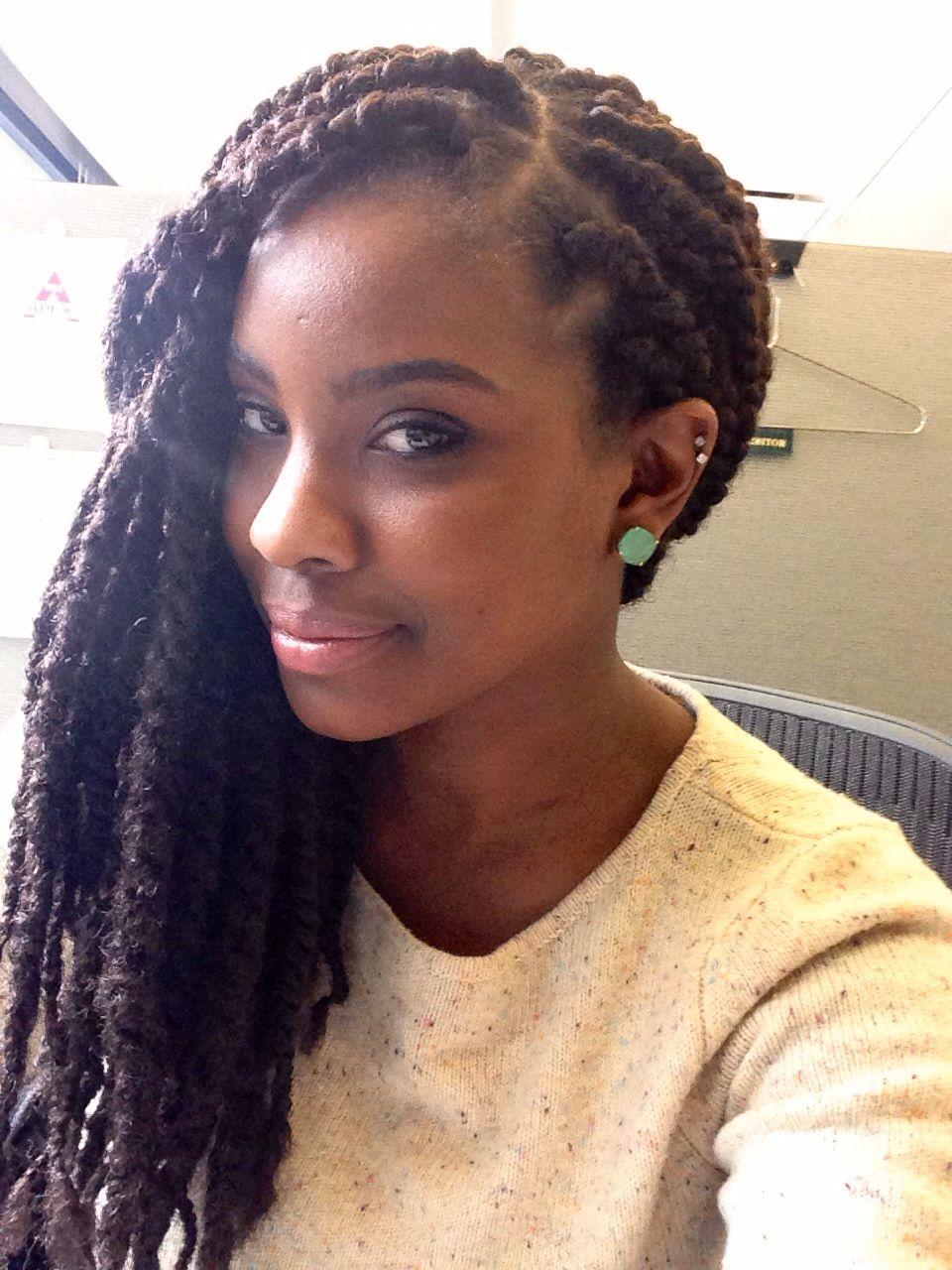 chunky twists using marley hair #blackwomen #hairstyle | box