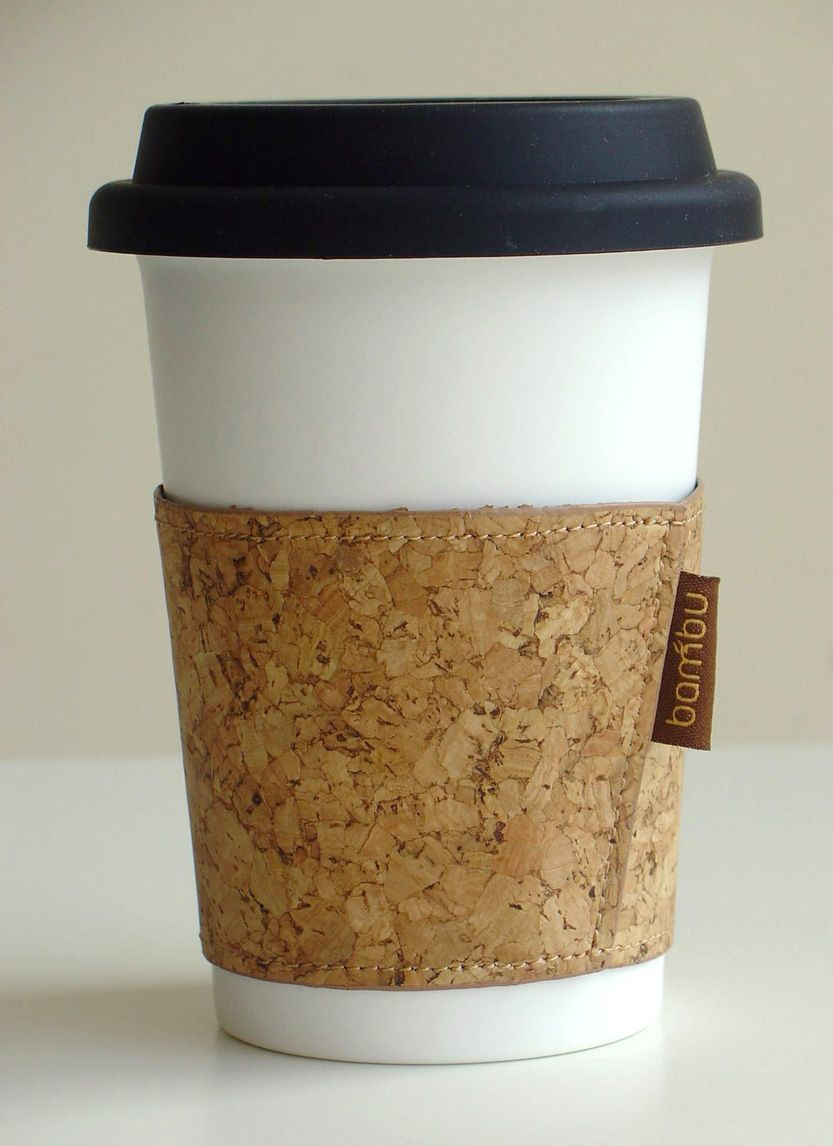 b1577d17fe5 Soft Cork Coffee Sleeve & Washable Paper Coffee Cup with Lid ...