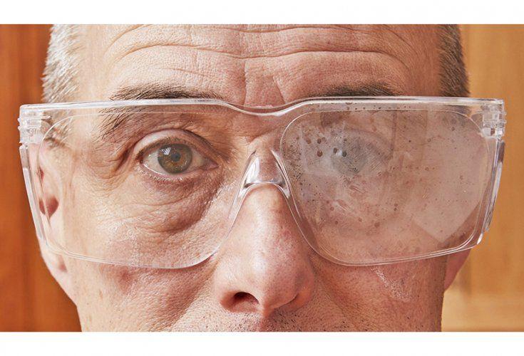 How do i prevent fogging on safety glasses wood