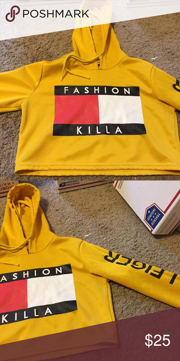 740a11caf3426 Fashion killa crop top hoodie Never worn fits like a medium or small Tommy  Hilfiger Tops Sweatshirts   Hoodies
