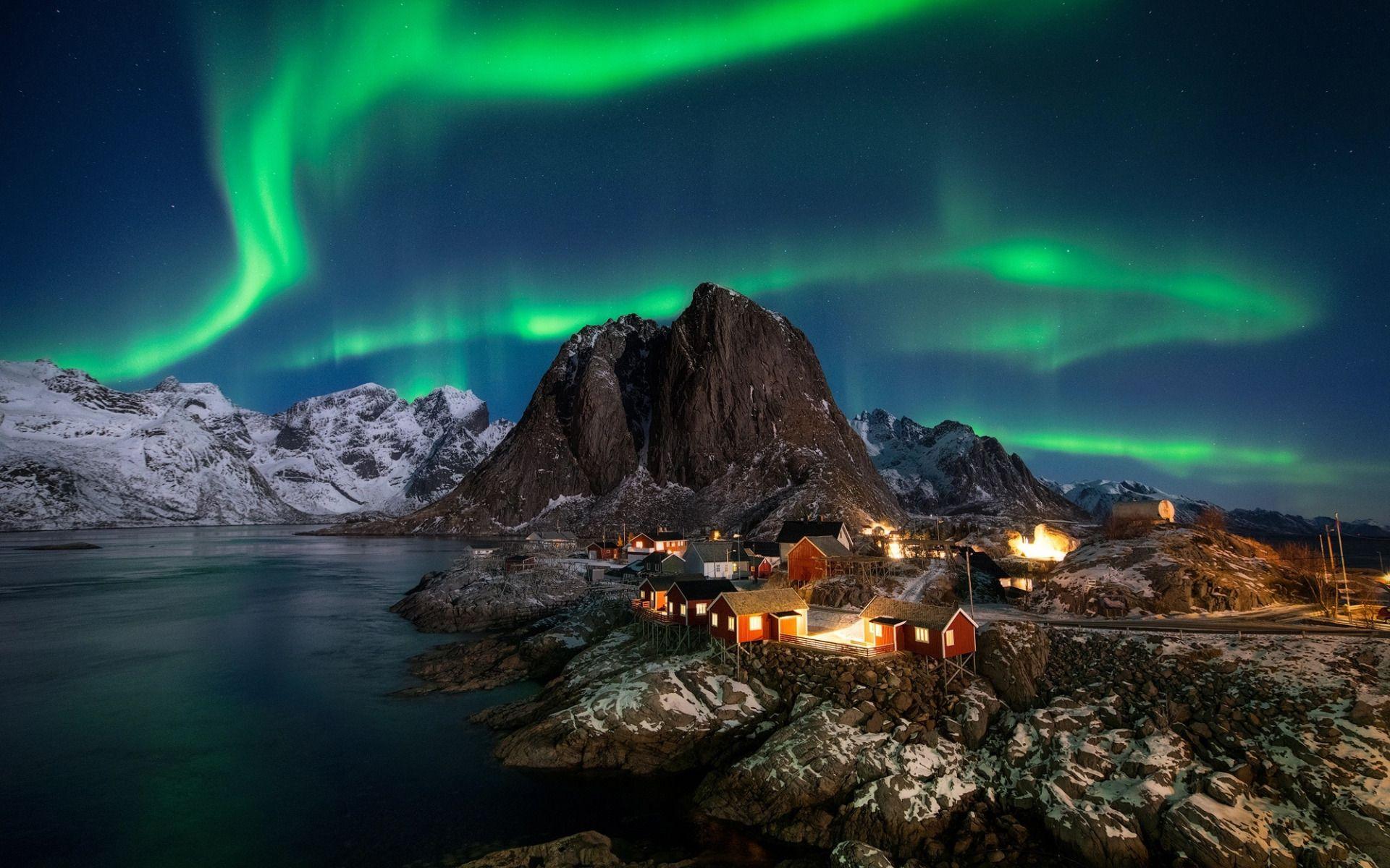 определенном норвегия северное сияние картинки пляж, изумительное
