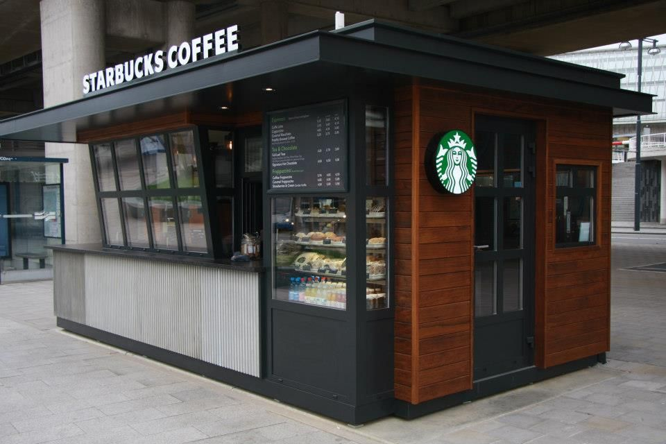 Starbucks coffee exterior stand for Exterior standalone retail