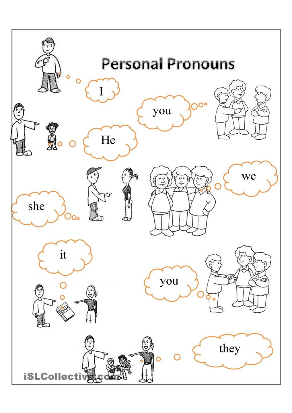 Personal pronouns FREE ESL worksheets – Free Esl Worksheets