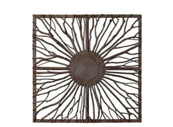 Josiah Wooden Branch Square Wall Decor Raymour And Flanigan