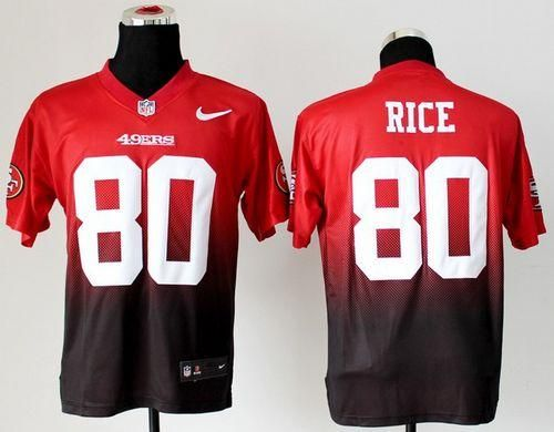 New Nike 49ers #80 Jerry Rice RedBlack Men's Stitched NFL Elite  hot sale