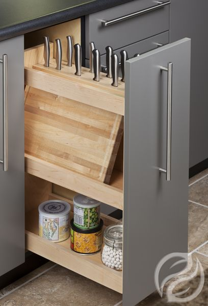 GreenfieldCabinetry - Knife Storage Pull Out House designs