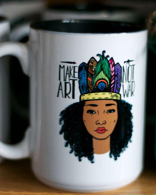 Make Art/Not War Mug | Ariel Brands