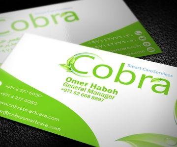 Cobra smart care services business card business card designs in cobra smart care services business card advertising agencybranding colourmoves