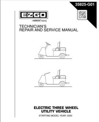 EZGO 35825G01 2000 Current Repair And Service Manual For