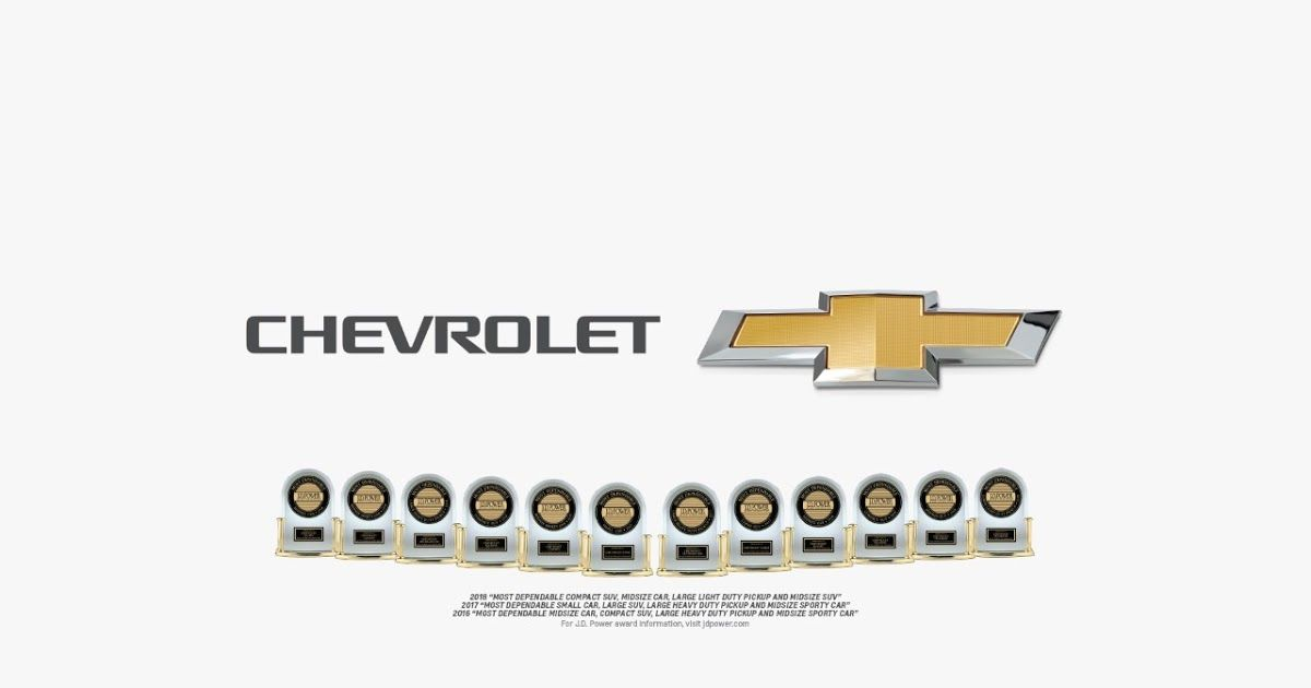 Good Chevy Named J.D. Poweru0027s Most Awarded Brand