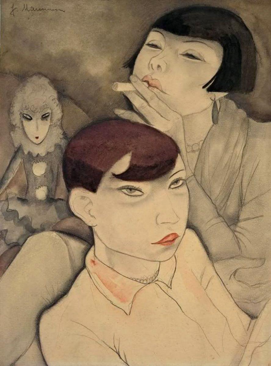 Boring Dolls By Jeanne Mammen German Watercolor And Pencil On Cardboard 1929 Boringdolls Jeannemammen Artist German Art Art
