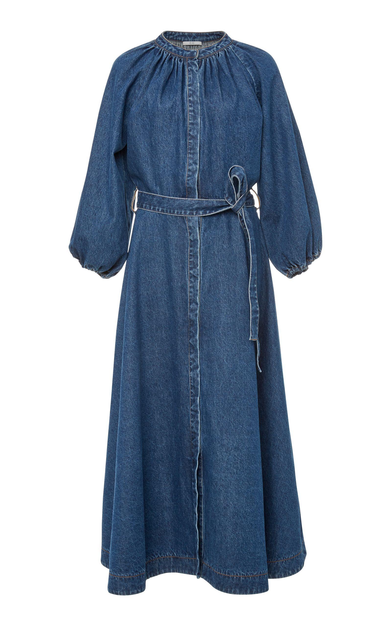 bcbd9f3fc32 Denim Tie Midi Dress by CO Now Available on Moda Operandi