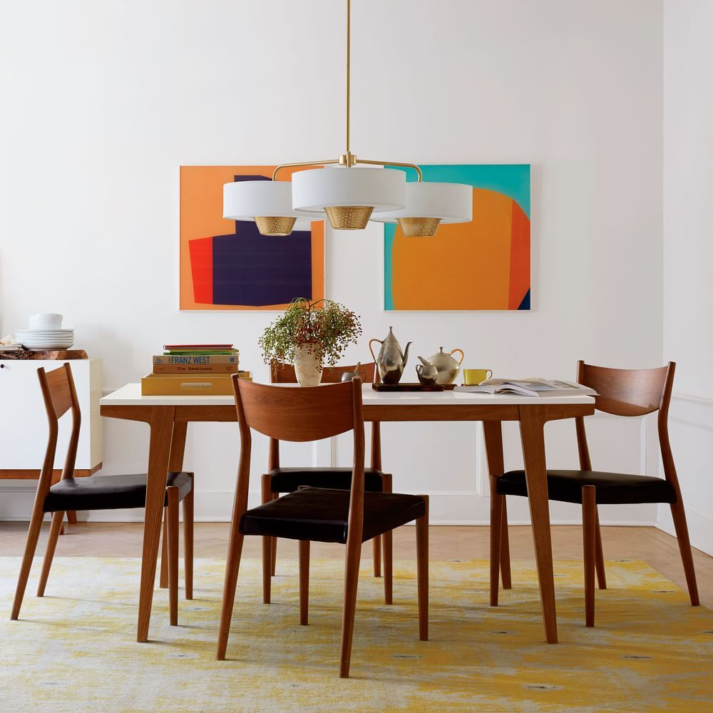 Modern Expandable Dining Table Midcentury Modern Dining Table