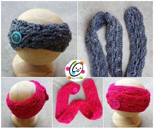 Pattern: Button Up Headband | Mütze häkeln, Mütze und Häkeln