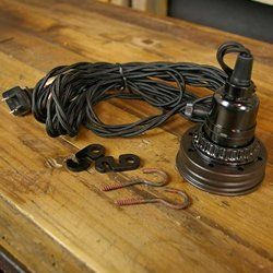 hanging mason jar pendant lamp kit ventilated top black braided