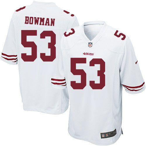 Nike Game NaVorro Bowman White Men's Jersey - San Francisco 49ers ...