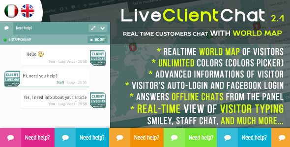 Live Client Chat v2.6  Help Chat With Visitors Map  Blogger Template