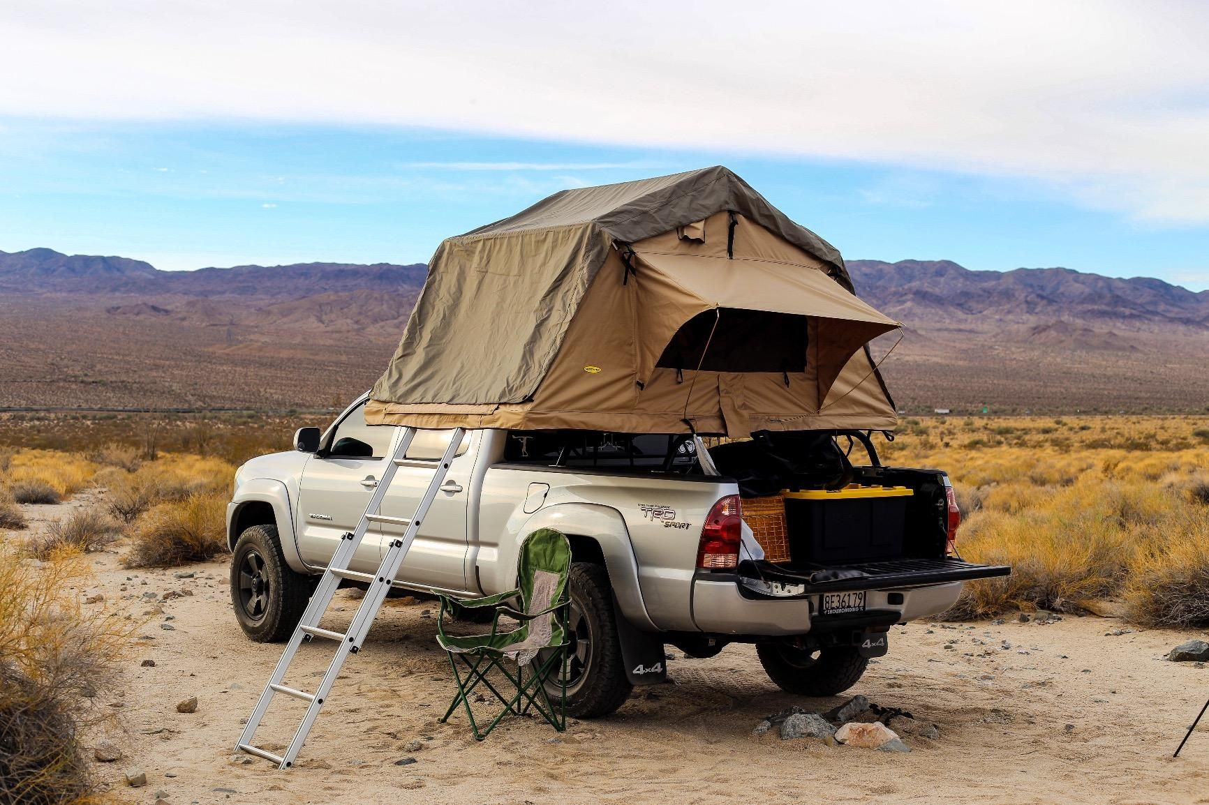 Truck Camping with Smittybilt Overlander Tent in