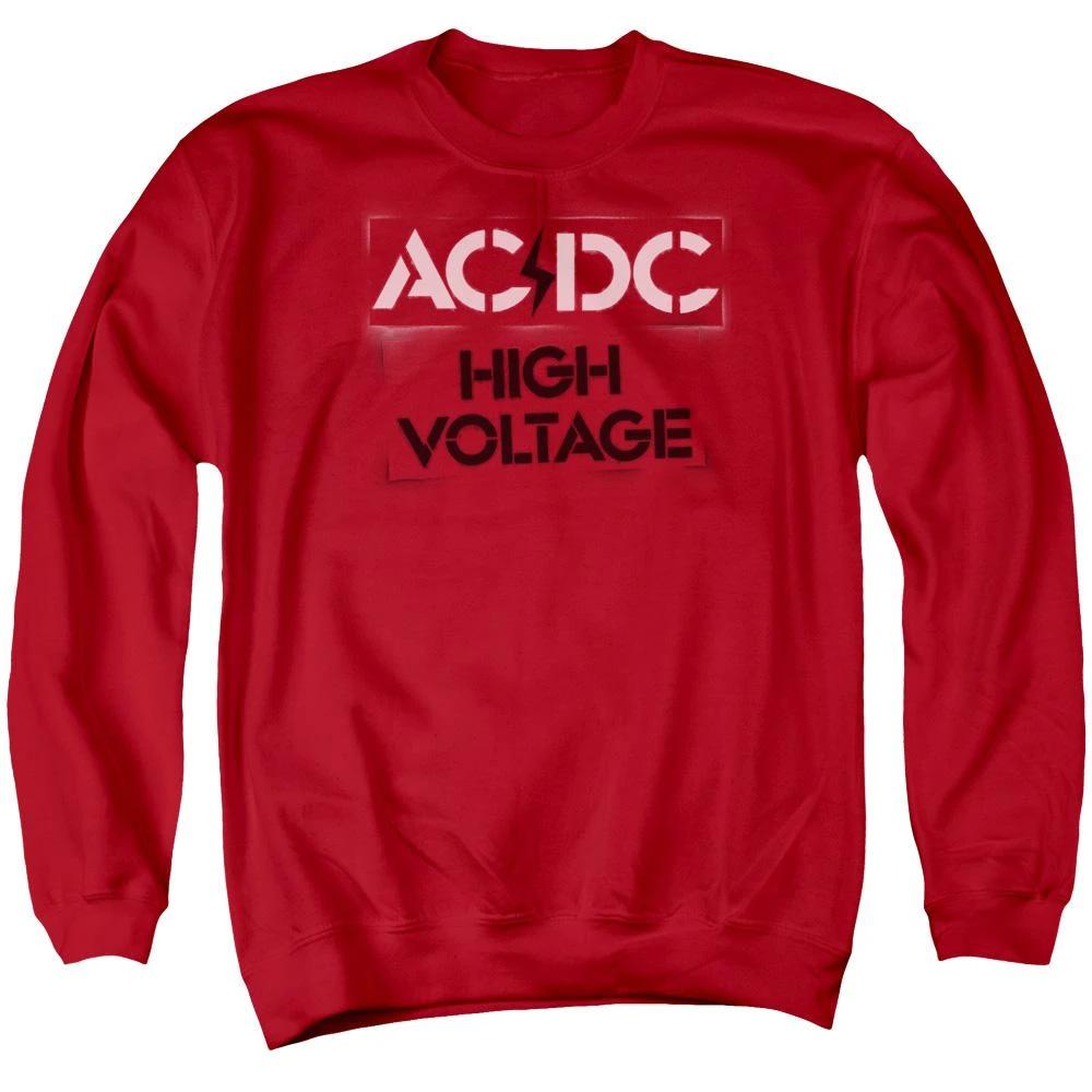 Ac Dc High Voltage Stencil Logo Sweatshirt Sweatshirts Mens Crewneck Sweatshirt Crew Neck Sweatshirt [ 1000 x 1000 Pixel ]