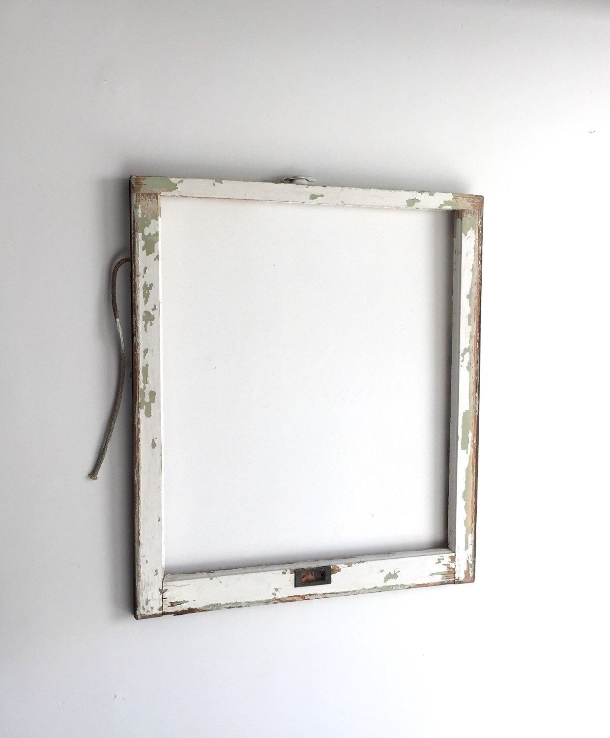 Vintage 1 Pane Window Frame No Glass 28 X 32 White Rustic Antique Wood Wedding Engagement Hom Rustic Window Frame Rustic Picture Frames Rustic Window