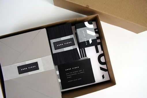 Laura Berglund: Anne Vieux Identity and Collateral
