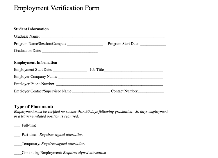 Employment Verification Form Template Check More At Https Www