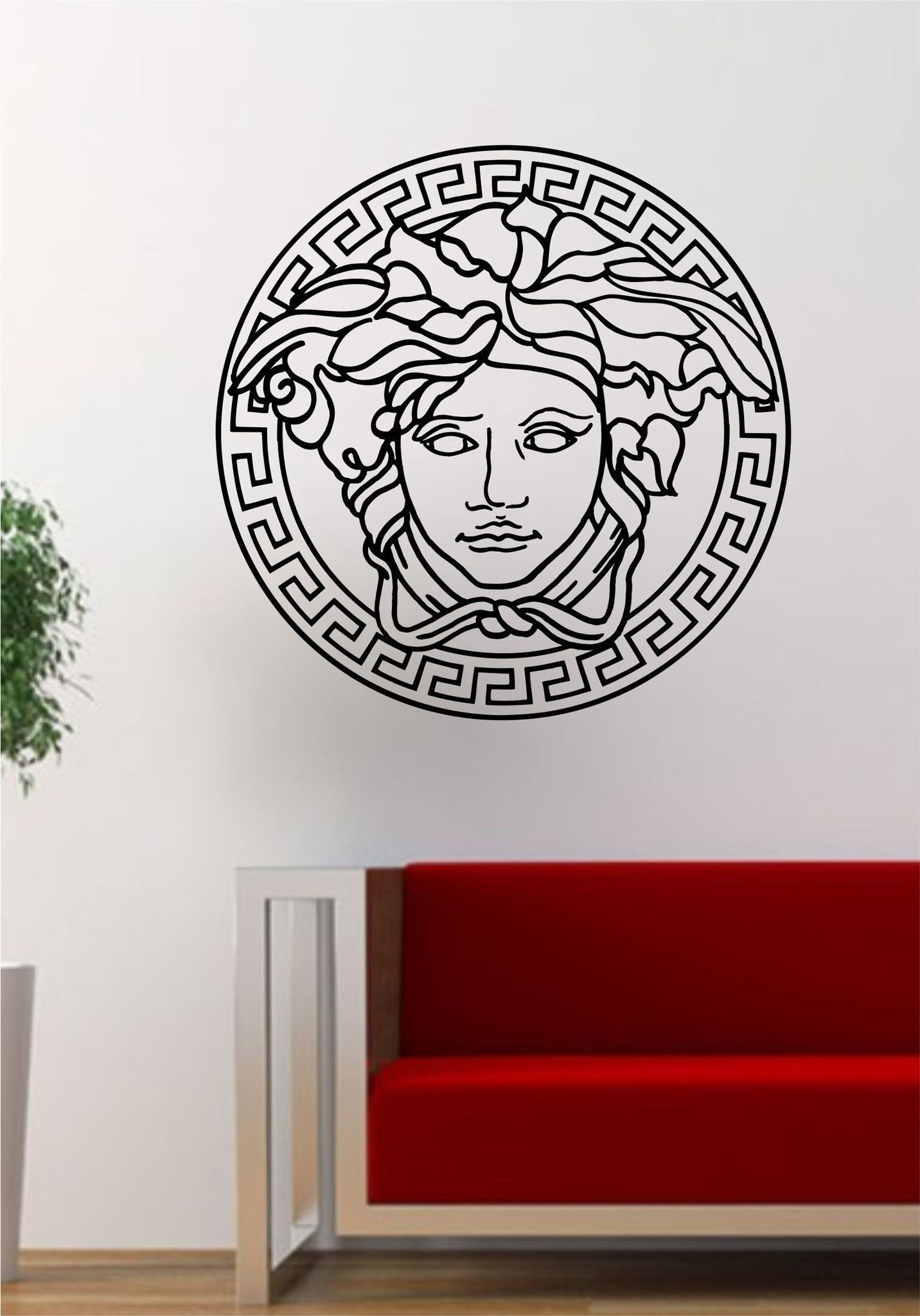 versace logo medusa decal sticker wall vinyl decor art on wall logo decal id=55296