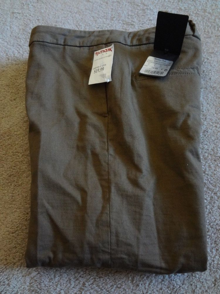 72c46c52f7 Massimo Dutti Women s Size 8 Brown Cuffed Pants NWT Made Morocco  97%Cotton 3%Ela  MassimoDutti  CaprisCropped  Casual
