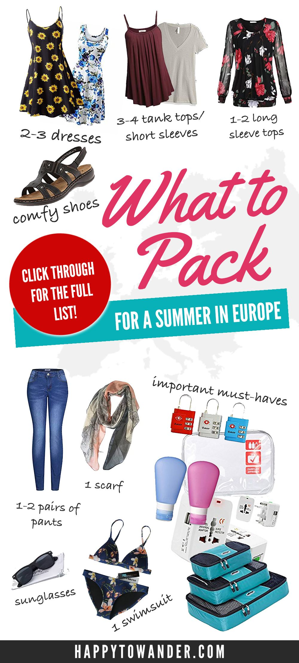 Packing for Summer in Europe: Ultimate Female Packing List