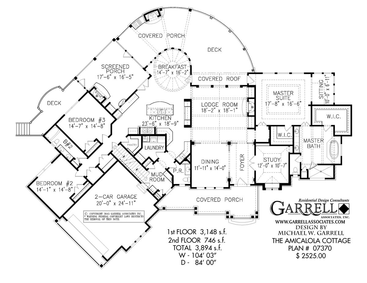 Exterior Design Enchanting Plan Of Garrell Associates With Car Garage And Master Bedroom De Mountain House Plans Craftsman Style House Plans Floor Plans Ranch